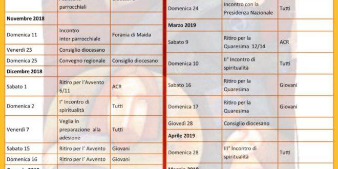 Calendario Diocesano 2018/2019